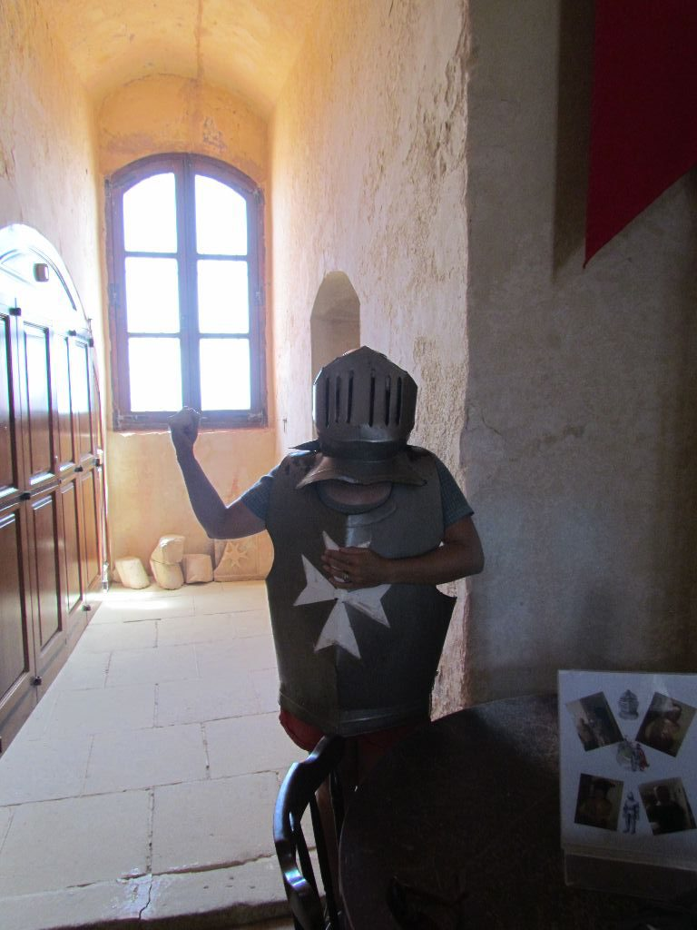 Nichola dons a suit of armour