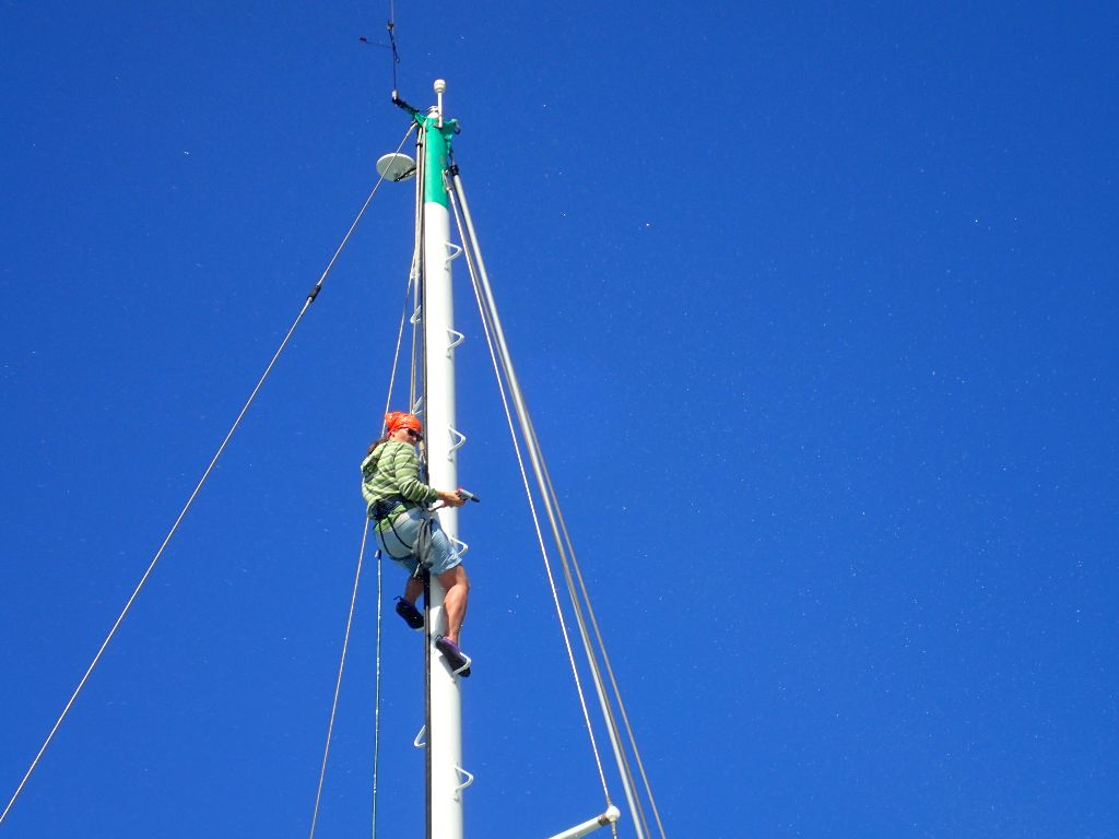 Cleaning the mast