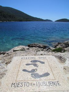 Artwork in Vela Luka (and yes we did)