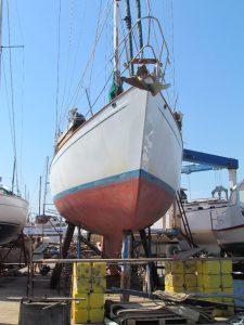 In her boatyard spot