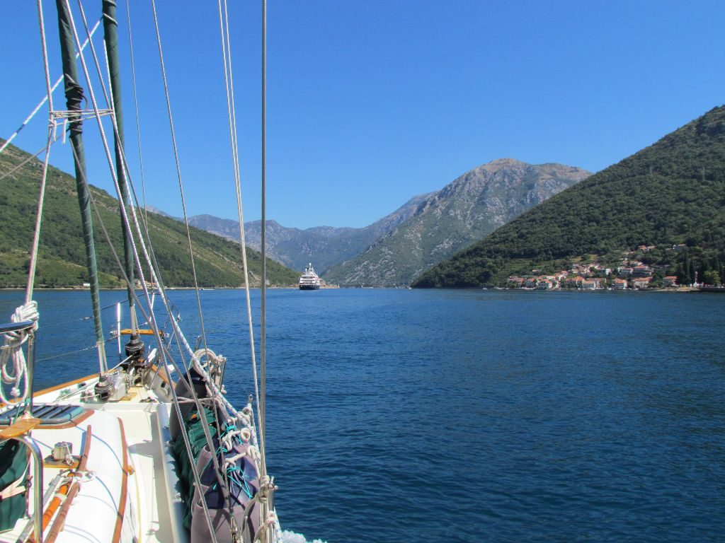 Heading down the Bay of Kotor