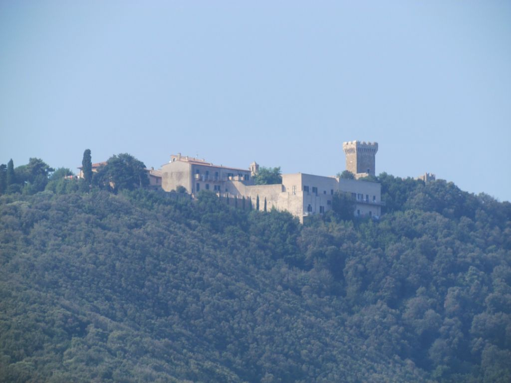 The castle on the hill overlooking the anchorage