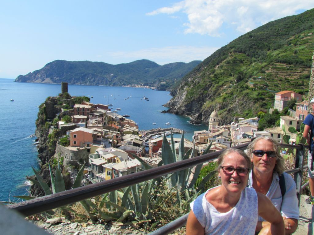 Looking down to Vernazza