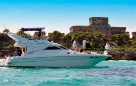 Yacht-Rentals-in-Cancun-Sea-Ray-40-pies-Puerto-Aventuras-Private-Charter-4-Hours-In-Ha-Turtle-Snorkel-Tour-luxury-charter-chef-pirvate-tulum-ruins