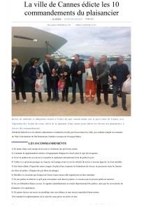 La ville de Cannes édicte les 10 commandements du plaisancier - Nice-Matin