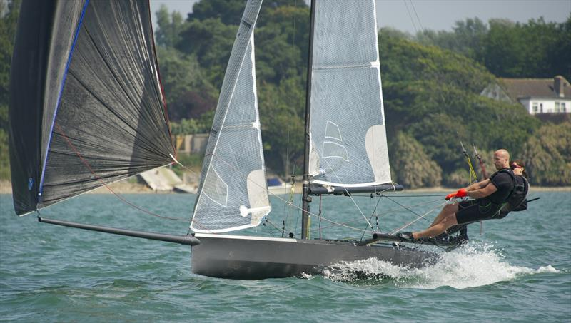 Katie Nurton and Nigel Ash during the International 14 Walker Trophy at Itchenor Sailing Club - photo © Mary Pudney