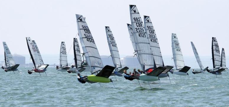 Noble Allen 2018 International Moth UK Championship at Thorpe Bay day 3 - photo © Mark Jardine / IMCA UK