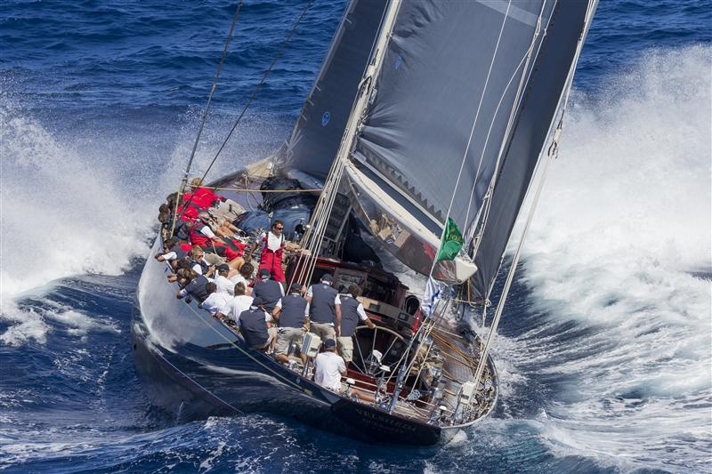 J Class Yachts At The Maxi Yacht Rolex Cup In Sardinia Day 2