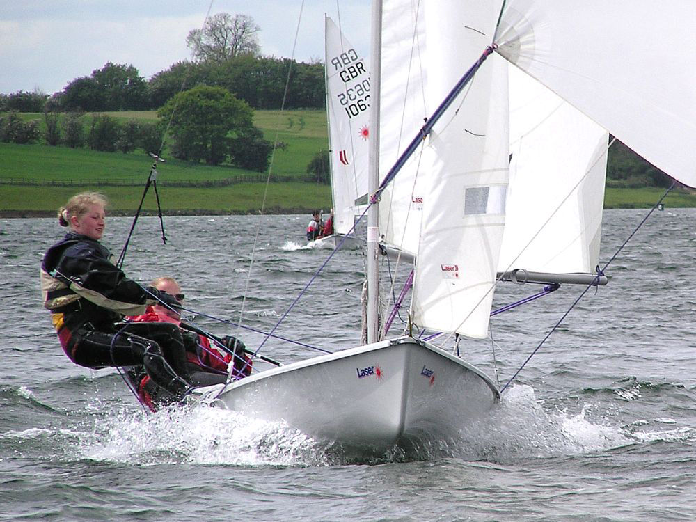 Action From The Laser II Open At Rutland Sailing Club