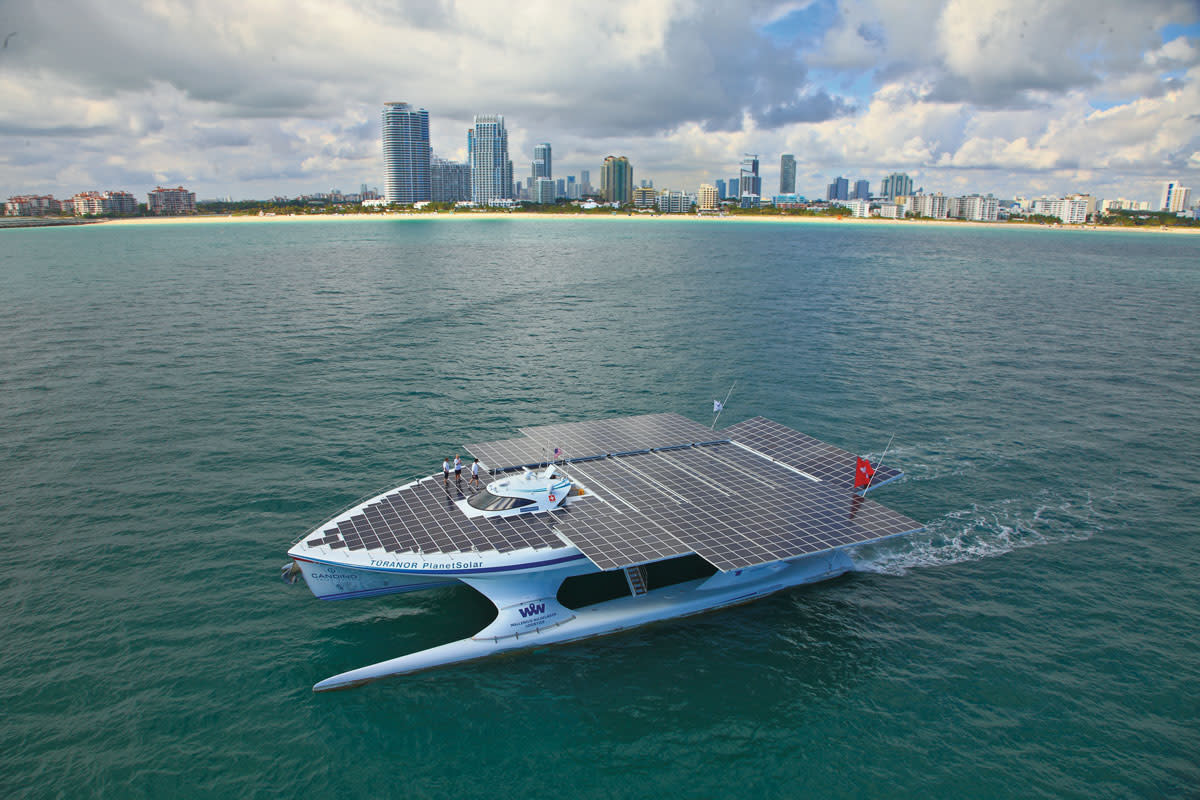 Planet Solar Makes A Splash At Sunset Harbour Yacht Club
