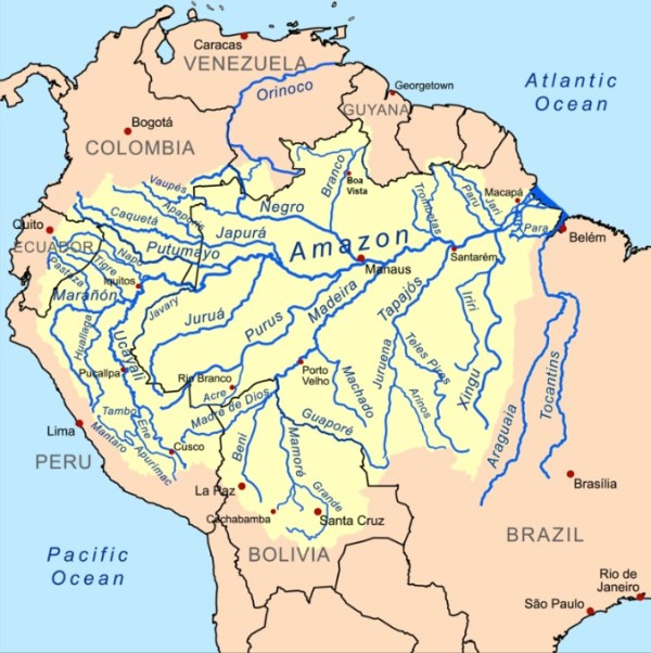 Amazon River Basin in South America