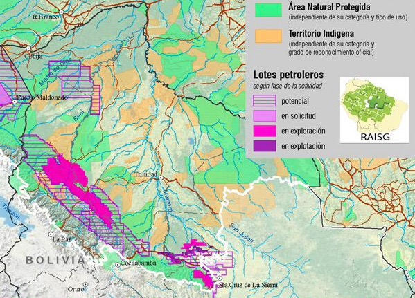 Bolivia opens protected areas to oil companie