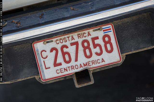 Costa Rica Number plate Centroamerica