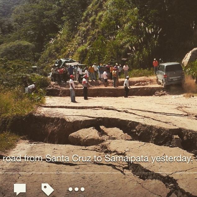 Road Samaipata Santa Cruz Bolivia