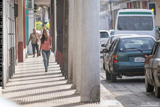 SantaCruzDeLaSierra Center Pedestrian Traffic