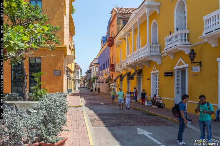 Yellow Colonial Cartagena de India Colombia