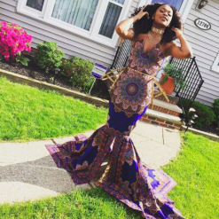 Mayalaya Zanders in her custom gown. (Photo: @_blazemoney/Instagram)