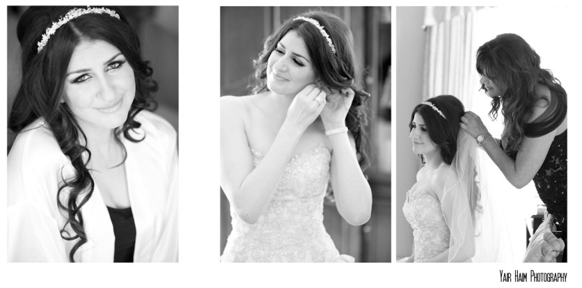 Altadena Cuntry club wedding make up black and white