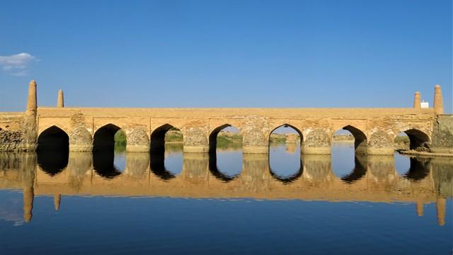 Iran désert varzaneh pont