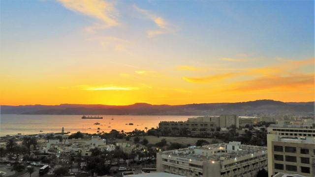 Jordanie aqaba coucher de soleil hilton