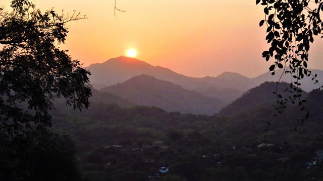 Colombie Minca coucher de soleil