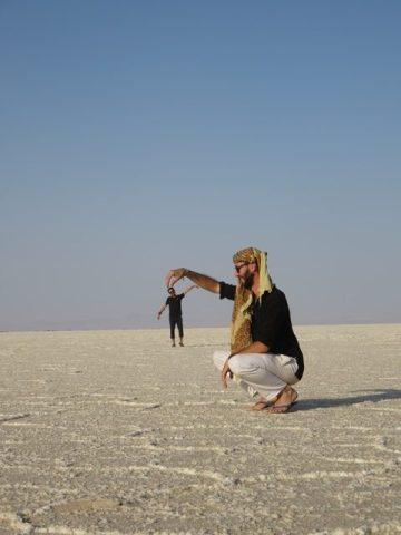 Iran désert varzaneh sel