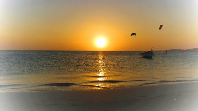 Colombie La Guajira Cabo de la Vela coucher de soleil