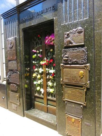 Argentine Buenos Aires cimetière de Recoleta Evita