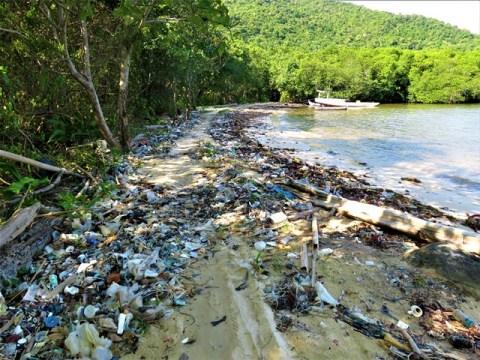 Java Karimunjawa plage déchets