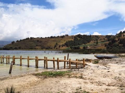 Colombie Lago de Tota plage
