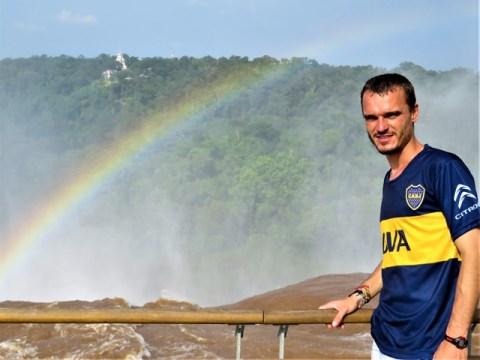 Argentine Chutes d'Iguazu arc-en-ciel
