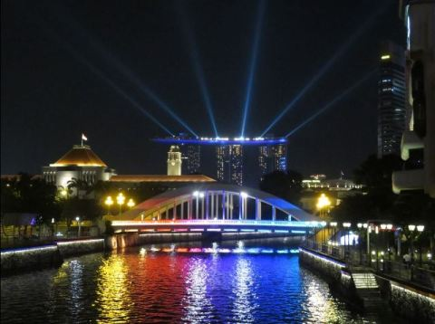 Singapour Marina Bay Sands nuit