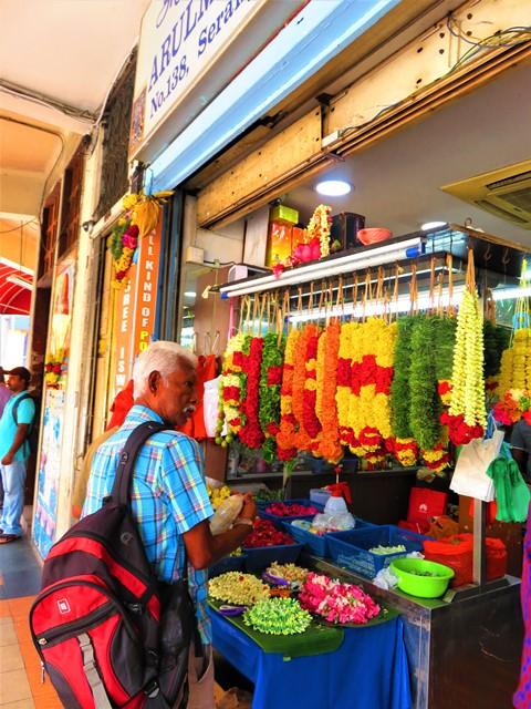 Singapour Little India fleurs
