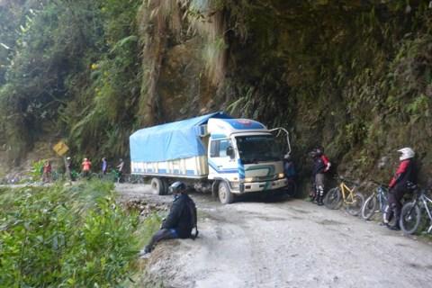 Bolivie Route de la Mort VTT camion
