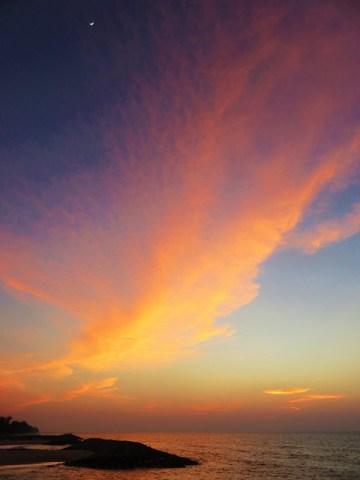 Brunei mer coucher de soleil