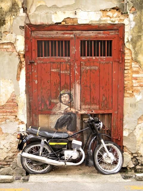 Malaisie George Town street art moto