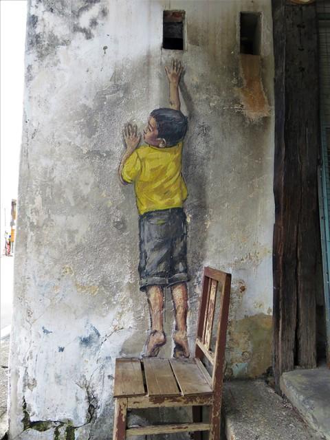Malaisie George Town street art chaise