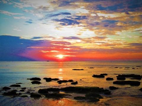 Thaïlande Koh Lanta coucher de soleil plage Khlong Kong