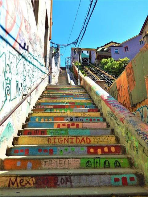 Chili Valparaiso escalier