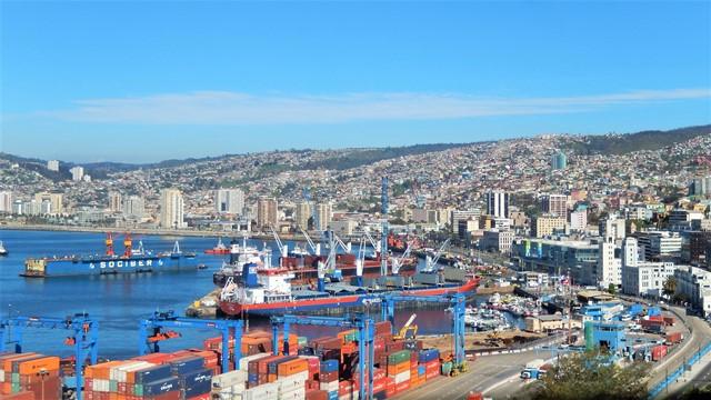 Chili Valparaiso colline port