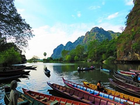 Myanmar Hpa-An grotte Saddan lac