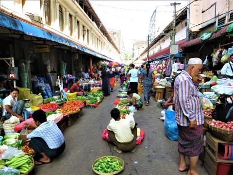 Myanmar Yangon marché 26ème rue