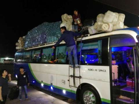 Laos bus nuit Thakhek