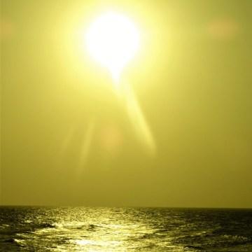 Colombie Carthagène coucher de soleil