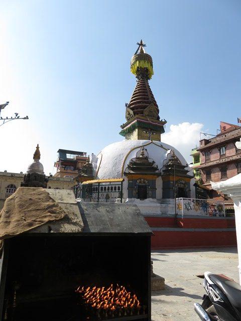 Népal Kathmandu quartier sud stûpa
