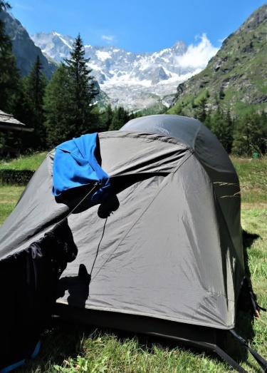 Trek du tour du mont blanc bivouac La Fouly