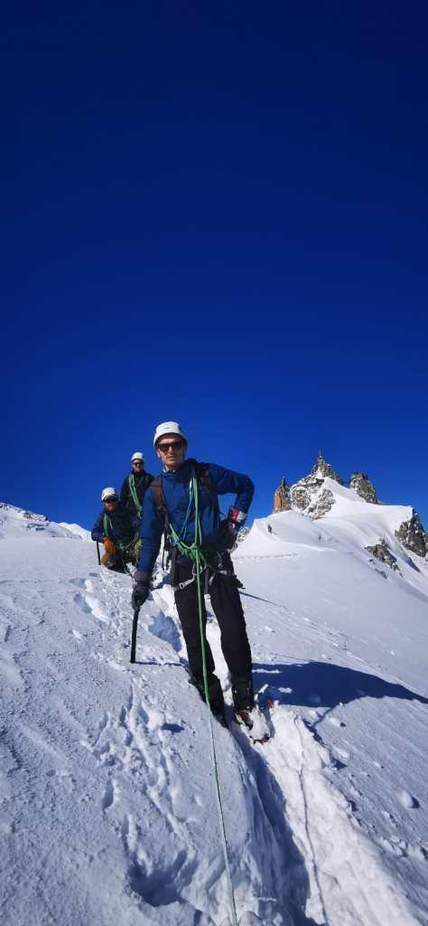 Alpinisme Arête Aiguille du Midi UCPA