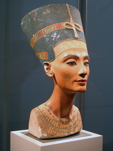 famous bust of Nefertiti, queen of Akhenaten (Egyptian Museum in Berlin)