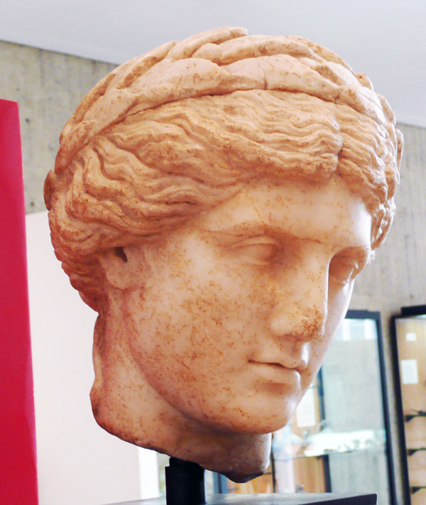 Apollo wearing a laurel crown