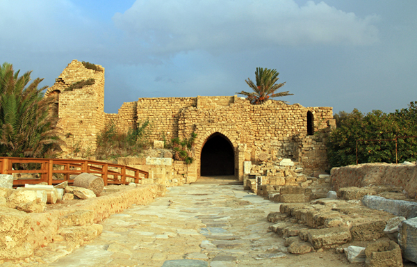 entrance to the Crusader city at Caesarea Maritima